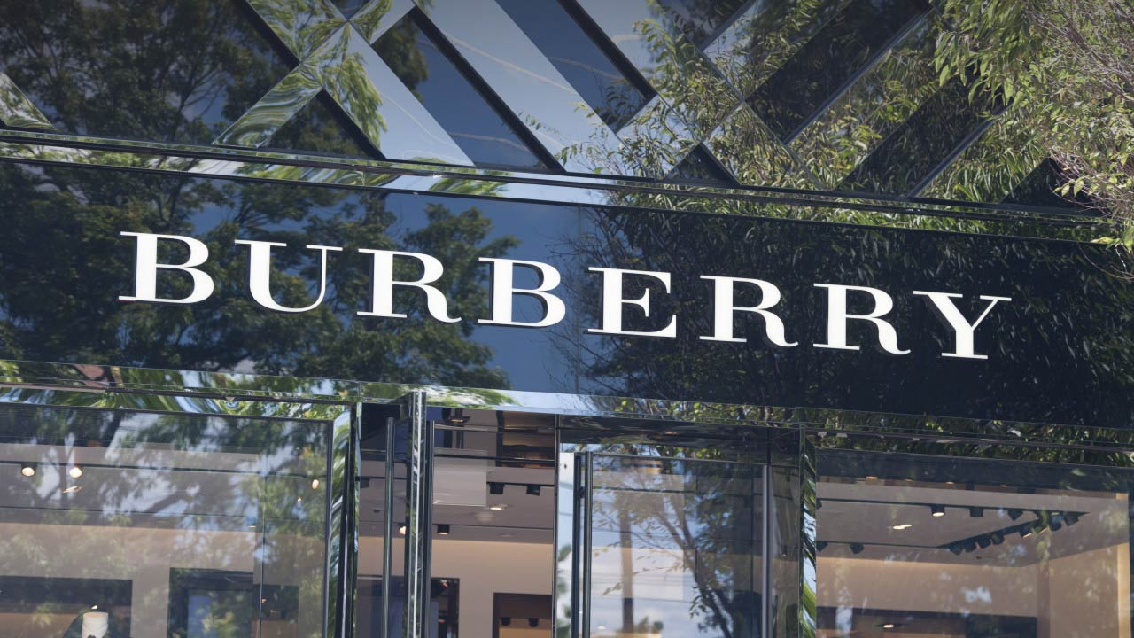Burberry store sign