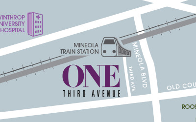 Mineola Train Station map