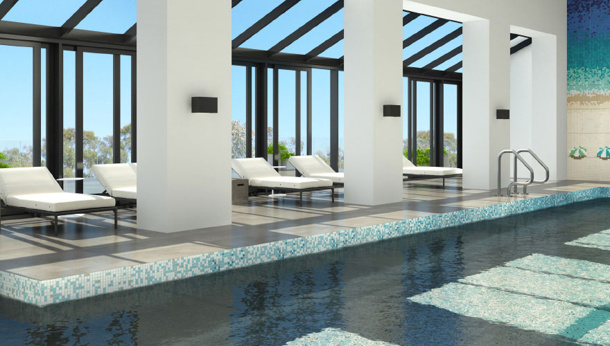 Luxury apartment swimming pool