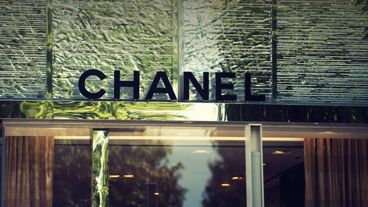 Chanel store sign