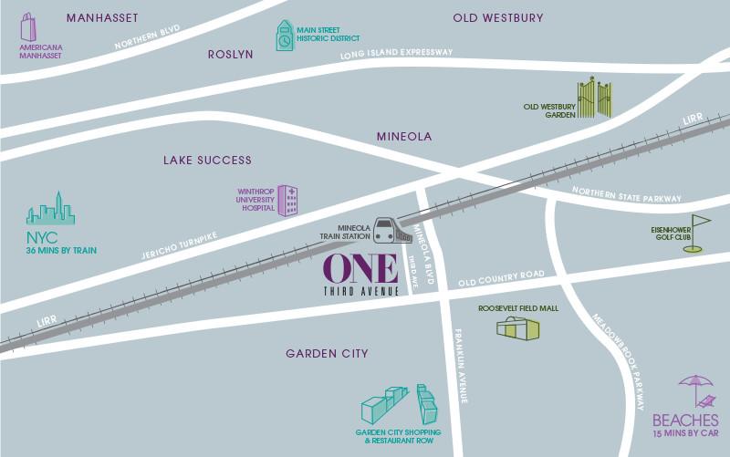 Mineola, NY map