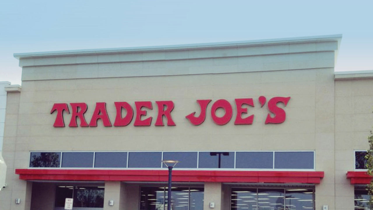 Trader Joe's sign in Garden City, NY