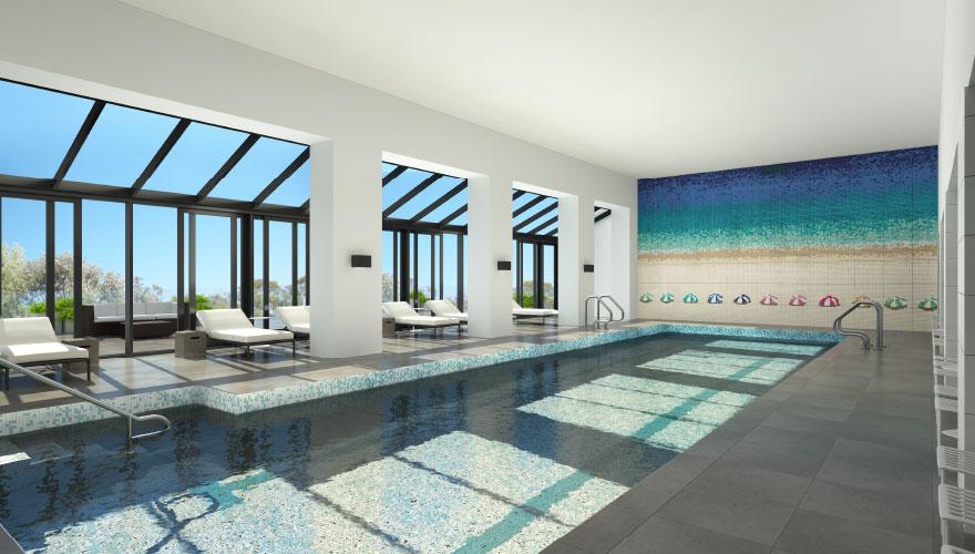 Luxury apartment swimming pool