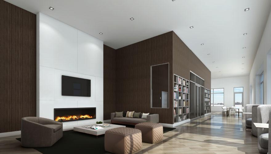 Luxury rooftop lounge